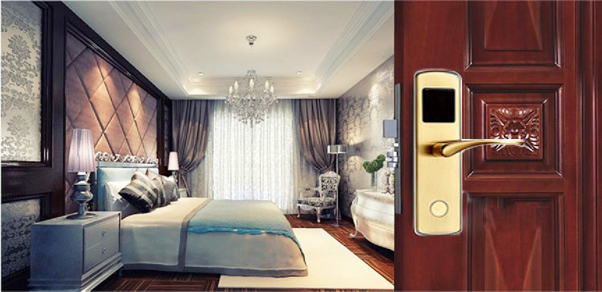 Networked Hotel Card Lock with strong adhesion, not easy to fade, not easy to oxidation